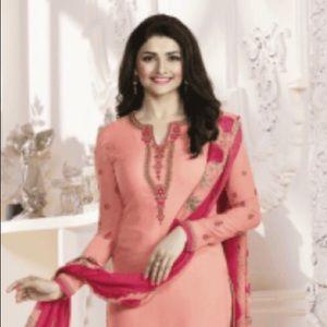 Dresses & Skirts - Peach and red Salwar Kameez